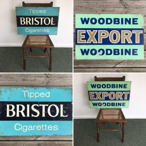 1950s Double sided Bristol / Woodbine sign