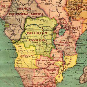 1920s school map of Africa