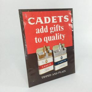 Cadets cigarette advertising retail showcard