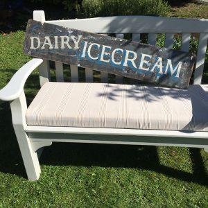 Dairy Ice cream hand-painted sign