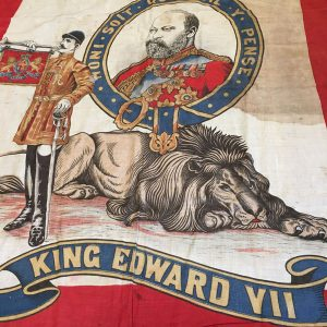 Edward VII coronation flag with Boer war reference
