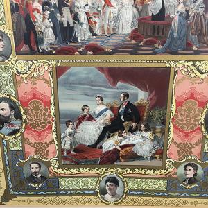 Set of 4x Victorian Diamond Golden Jubilee chromolithographs